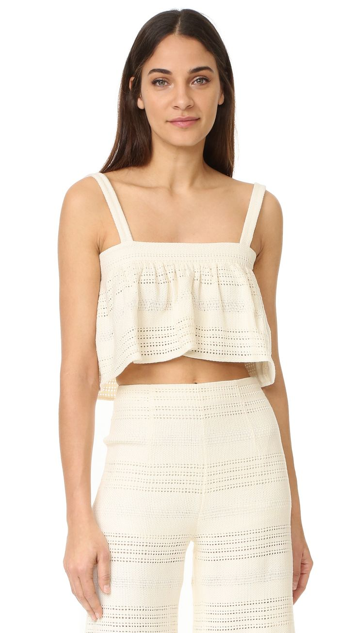 ¡Cómpralo ya!. Mara Hoffman East Cover Up Top - Cream. A cropped Mara Hoffman cover up top with a relaxed fit. Sleeveless. Fabric: Basket weave. 100% cotton. Hand wash. Imported, India. Measurements Length: 16.5in / 42cm, from shoulder Measurements from size S. Available sizes: L , topcorto, croptops, croptop, croptops, croptop, topcrop, topscrops, cropped, topbailarina, corto, camisolacorta, crop, croppedt-shirt, kurzestop, topcorto, topcourt, topcorto, cortos. Top corto  de mujer   de…