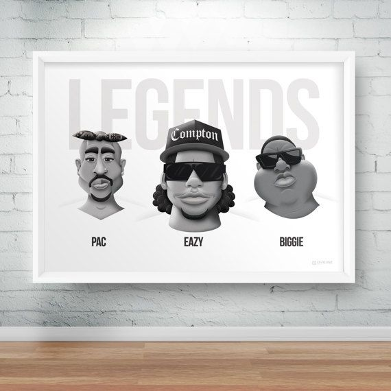 Check out this item in my Etsy shop https://www.etsy.com/uk/listing/516071803/legends-of-rap-a3-poster-eazy-e-2pac