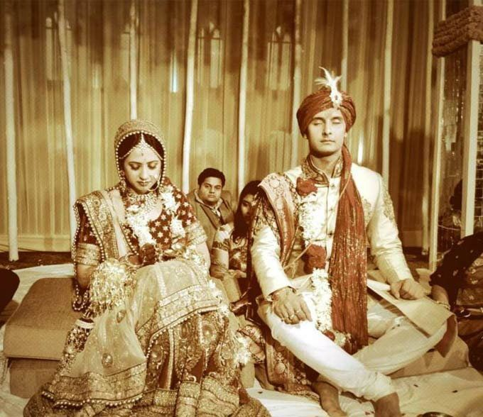 Sargun Mehta married her boyfriend of four years and co-star on several soaps, Ravi Dubey, after he officially proposed her on the sets of Nach Baliye.