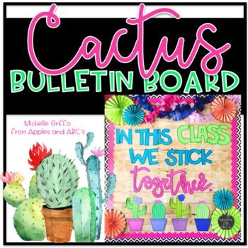 Jump on the cactus theme decor train and make a cactus bulletin board in your room! I created a simple DIY cactus bulletin board template for you to make in your classroom! All you need to do is pick from one of the four cactus phases, print on colored paper, and hang on your