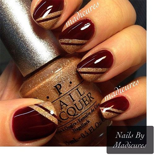 25+ Best Ideas About Red And Gold Nails On Pinterest