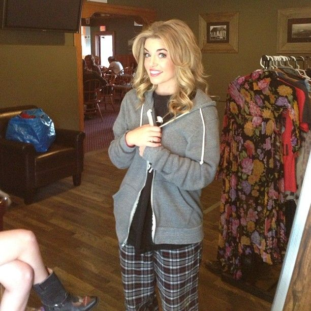 """Britt McKillip from One More Girl on the set of """"The Hard Way"""" album photo shoot"""