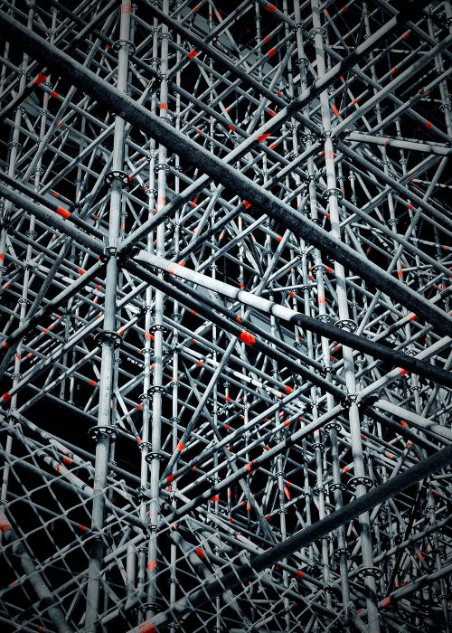There is something cool about Layher scaffolding.... not that I'd want to have to build all this!