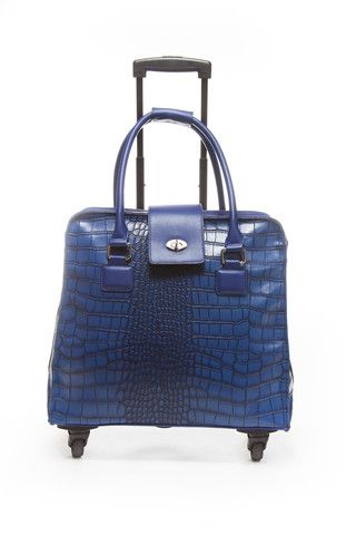 Crocodile Blue Fashion Trolley Bag – Hang Accessories: