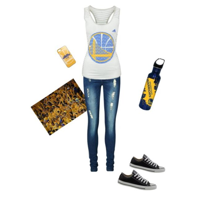 Golden State Warriors inspired outfit #DubNation