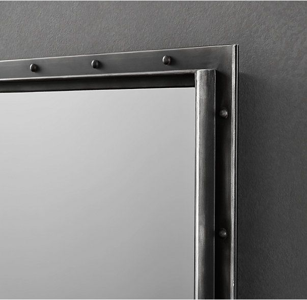 antiqued riveted mirror 36 x 48 and 26 x 48