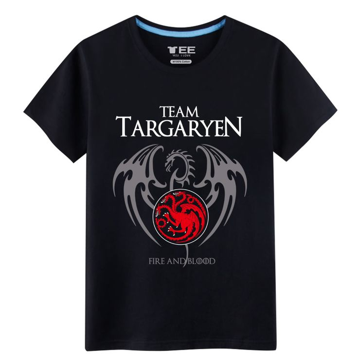 2017 New Listing Mens T-Shirts Games of Thrones House Targaryen Seven Kingdoms 100% Cotton T-Shirts - Direwolf Shop Direwolf Shop