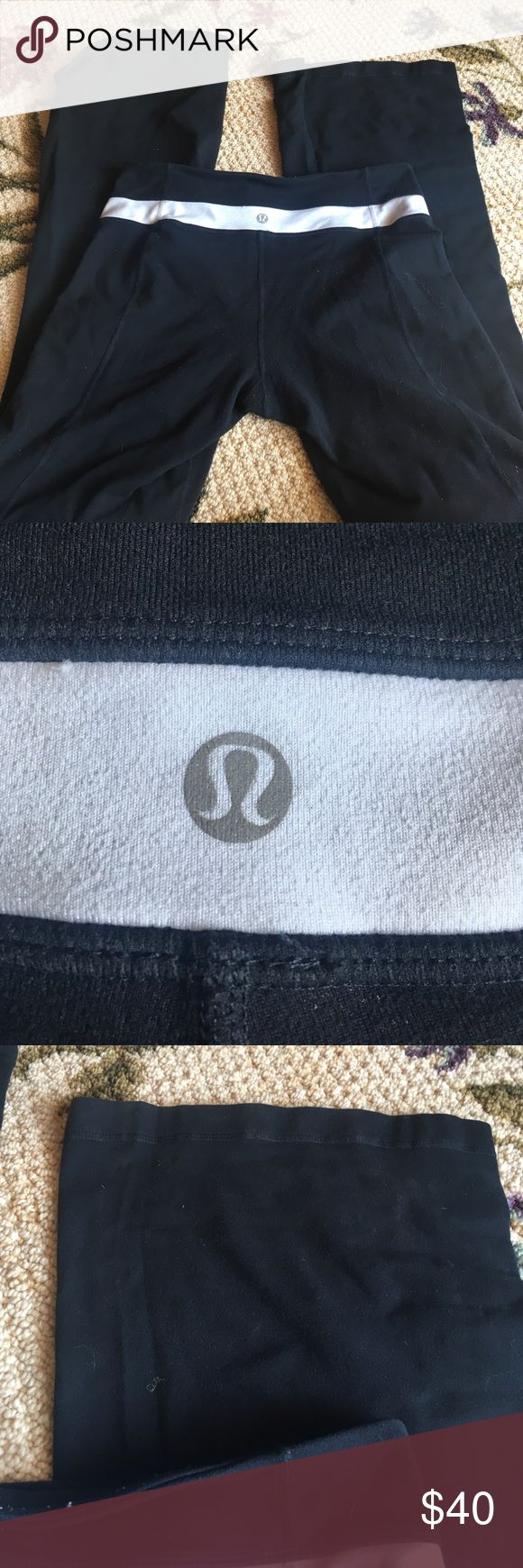 Lulu lemon leggings Lulu lemon leggings. Some pilling but nothing too bad. Love these just clearing out. Size 4 or 6. No holds good condition lululemon athletica Pants Leggings