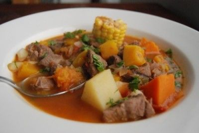 Carbonada - Argentine and Uruguayan sweet and savory beef stew
