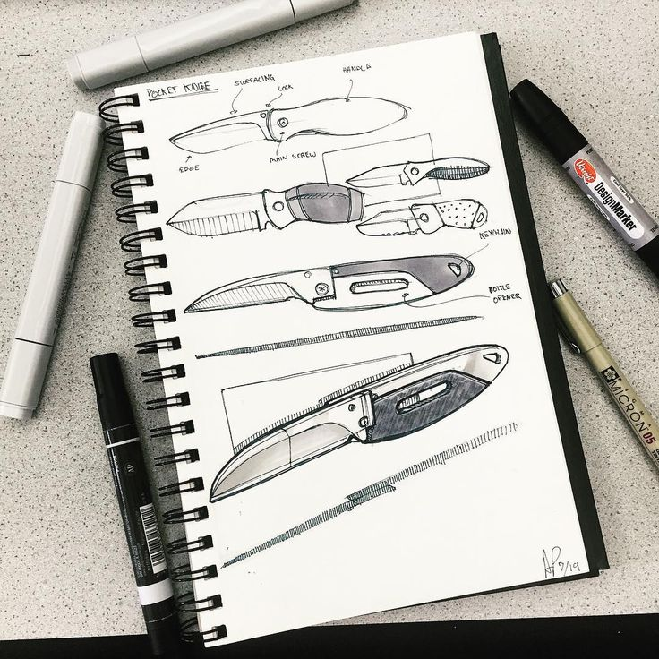 """This weeks #sketchwars thinking of a smaller sized pocket knife."""