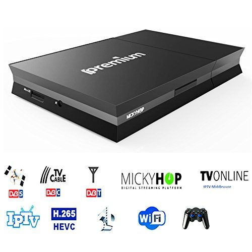 ipremium Smart TV Android IPTV Box Combo DVB-S2 DVB-T2 DVB-C IPTV OTT Mickyhop Stalker Middleware K0di AVOV M No description (Barcode EAN = 0732240846352). http://www.comparestoreprices.co.uk/january-2017-1/ipremium-smart-tv-android-iptv-box-combo-dvb-s2-dvb-t2-dvb-c-iptv-ott-mickyhop-stalker-middleware-k0di-avov-m.asp