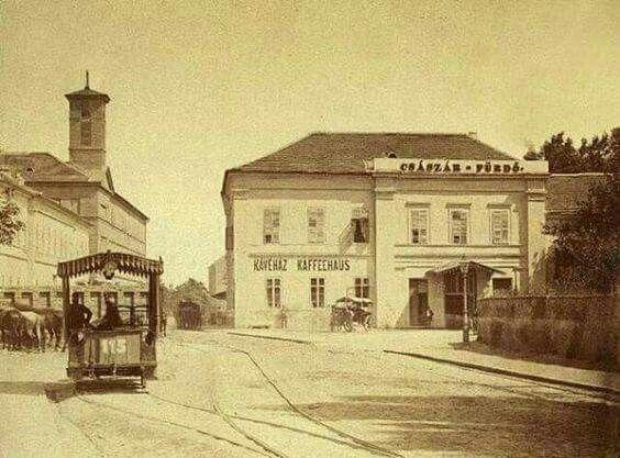 1888. Császár Fürdő a Frankel Leó úton.