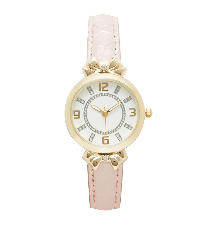 Isabella Bow & Leatherette Watch - Forever New