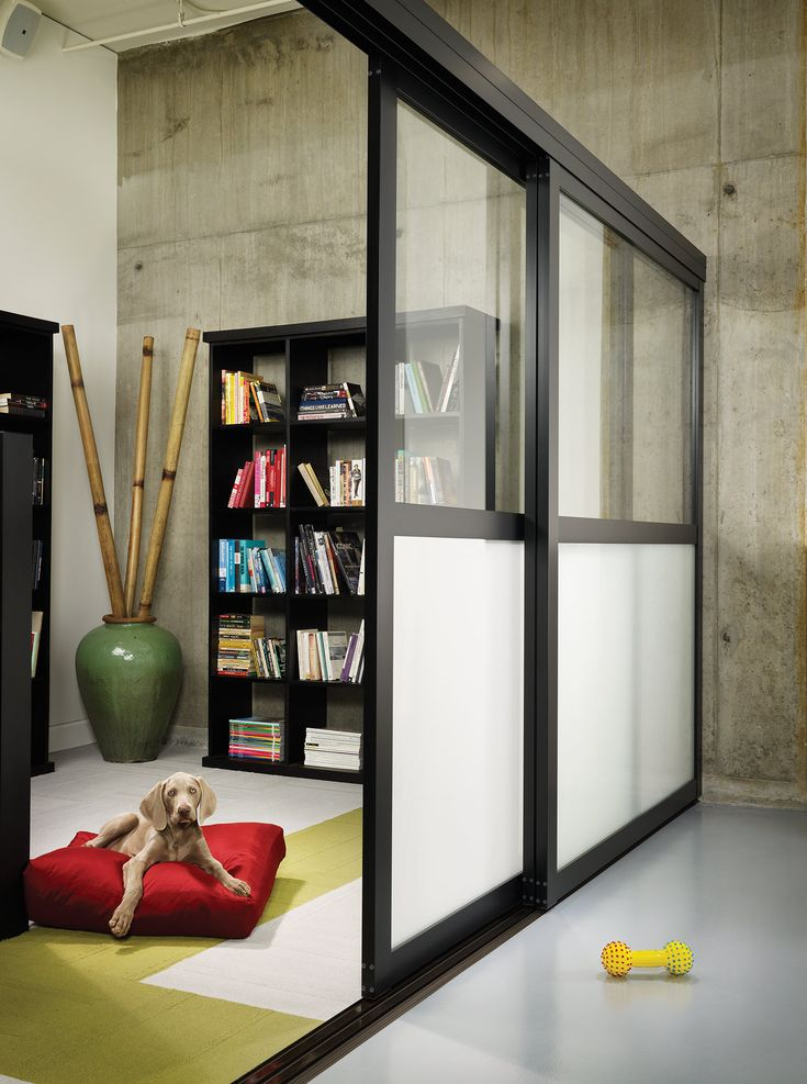 Sliding Door As Basement Room Dividers