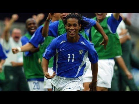 Ronaldinho Amazing Free Kick vs England | 2002 World Cup | Full HD