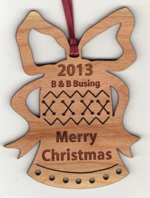 #engraved #woodornament #customornament: