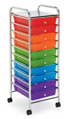 10 Drawer Rolling Storage Cart Michaels Colors Of The Rainbow