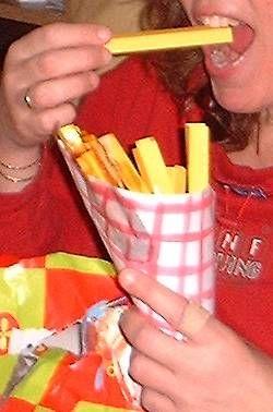 patatje met of zonder van papier