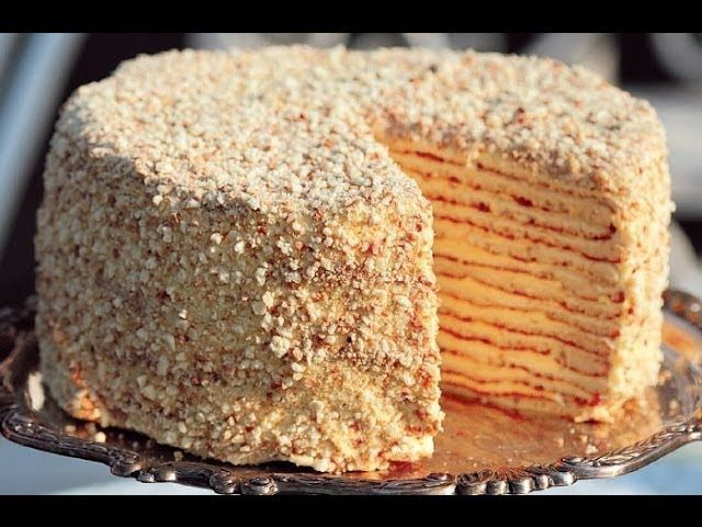 Cake layered with delicious cream