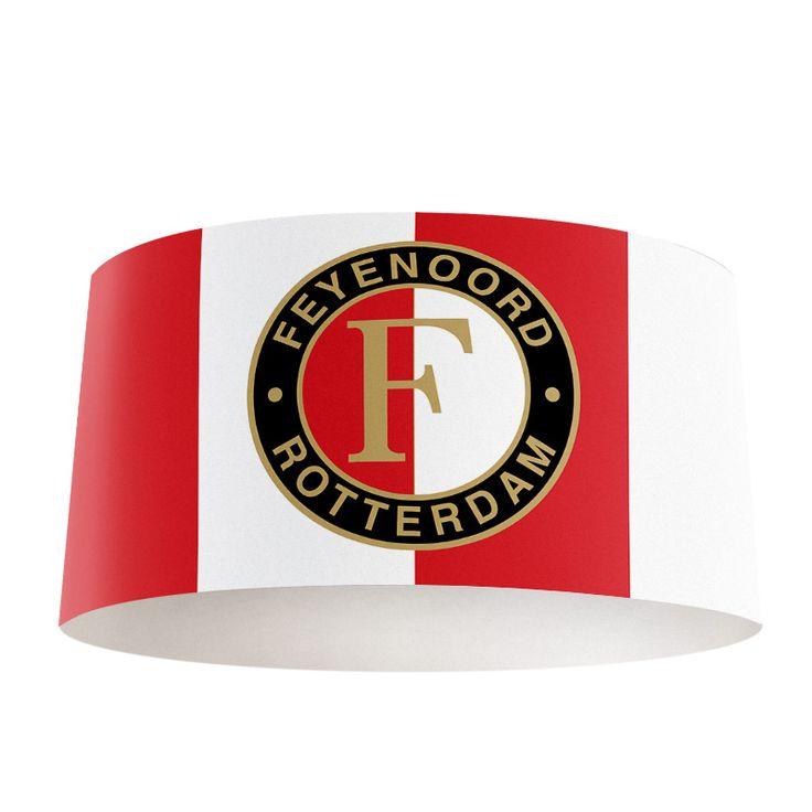 Lampenkap Feyenoord | Bestel lampenkappen voorzien van digitale print op hoogwaardige kunststof vandaag nog bij YouPri. Verkrijgbaar in verschillende maten en geschikt voor diverse ruimtes. Te bestellen met een eigen afbeelding of een print uit onze collectie.  #lampenkap #lampenkappen #lamp #interieur #interieurdesign #woonruimte #slaapkamer #maken #pimpen #diy #modern #bekleden #design #foto #voetbal #feyenoord #wit #logo #embleem #rood #wit #rotterdam #supporter #jongenskamer