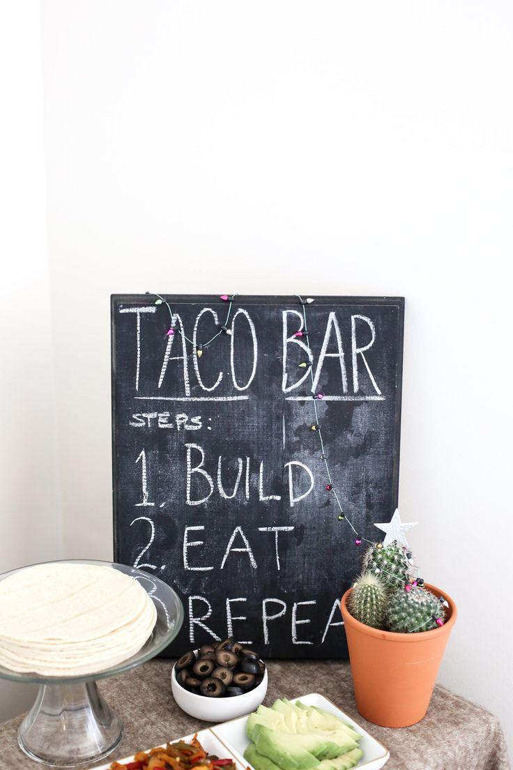 festive taco bar