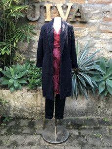Jiva Cashmere/Wool Collared Coat- Charcoal Boucle – Jiva Clothing