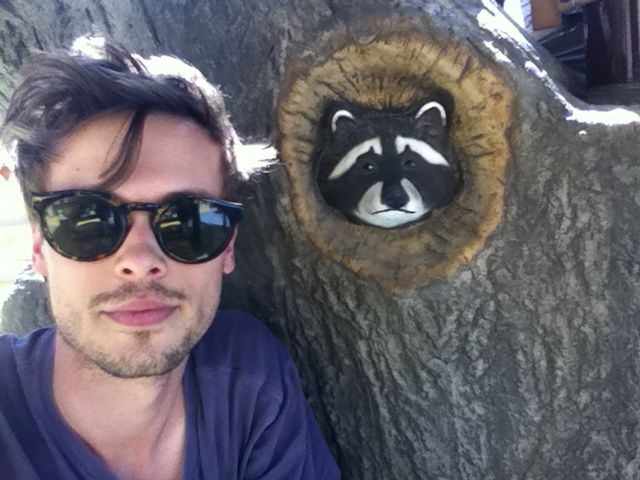 'me and a raccoon'   Matthew Gray Gubler   gublernation.tumblr.com