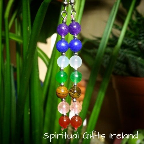 Handmade Chakra Earrings  💜💙💚💛❤Wearing Chakra jewellery to bring healing and balance to your chakras is an ancient practice. 👐 These earrings are handmade with love here at Spiritual Gifts Ireland and designed to balance the seven chakras. 🌌 Each bead represents one of the seven energy centres - crown, brow, throat, heart, solar plexus, sacral and base.  🌌 Wearing this piece promotes awareness of your energy centres thus encouraging healing and vitality.  So whether you're working on…