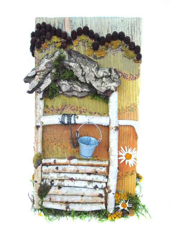 Natural materials assemblage collage wood by NaturalMaterialsArt, €80.00