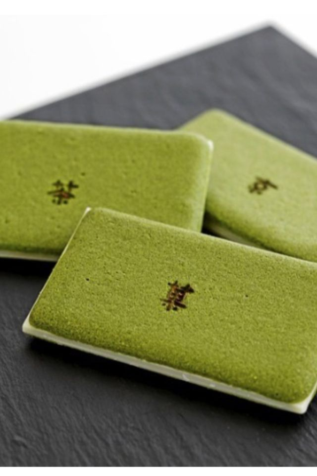 Cha-Nô-Ka __ Japanese biscuits green tea cookie sandwiched with a white chocolate filling