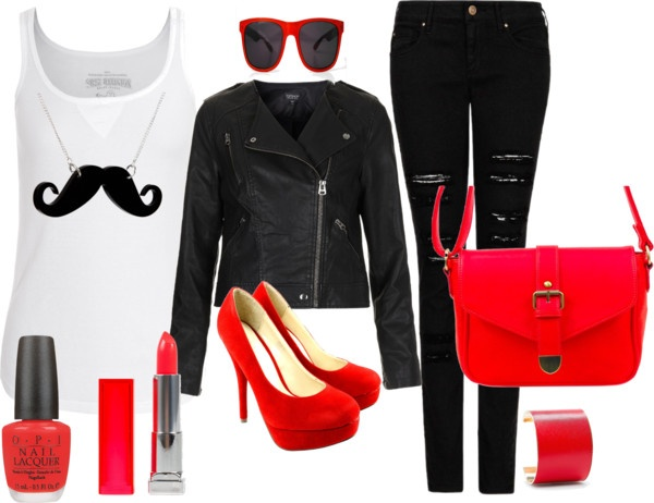 """red acces."" by nicole-beal on Polyvore"