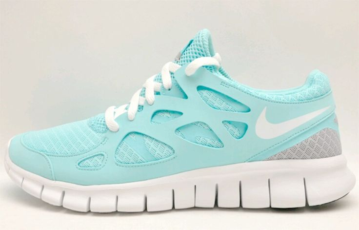 Light blue Nike Free Runs.