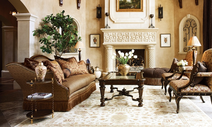 133 best marge carson furniture images on pinterest furniture bed furniture and bedroom furniture for Tuscan living room furniture