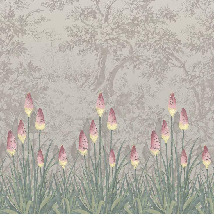 Upper Brook St. Gris - Papier peint London Wallpapers IV de Little Greene