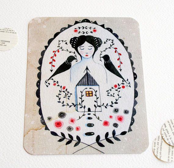 Carte postale imprimée par un professionnel de mon illustration Intégrité...:))    Les dimensions sont : 5,5 x 4.25 enveloppe inclus Merci de votre visite à Lily Moon x