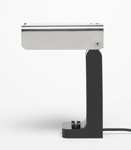 Joe Colombo; #4034 Plastic and Stainless Steel 'Vademecum' Table Lamp for Kartell, c1968.