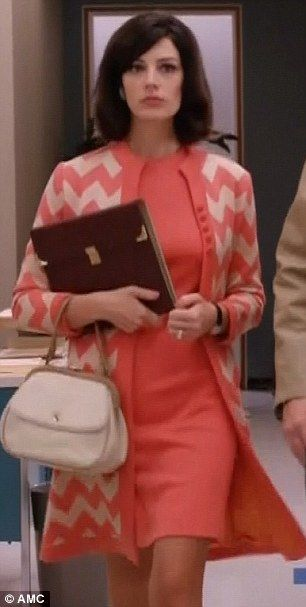 Megan from Mad Men in Chevron. So perfect. I used to hate Chevron but I've hopped on the bandwagon in a big big way!