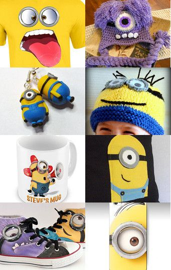Minion mania by alina on Etsy--Pinned with TreasuryPin.com