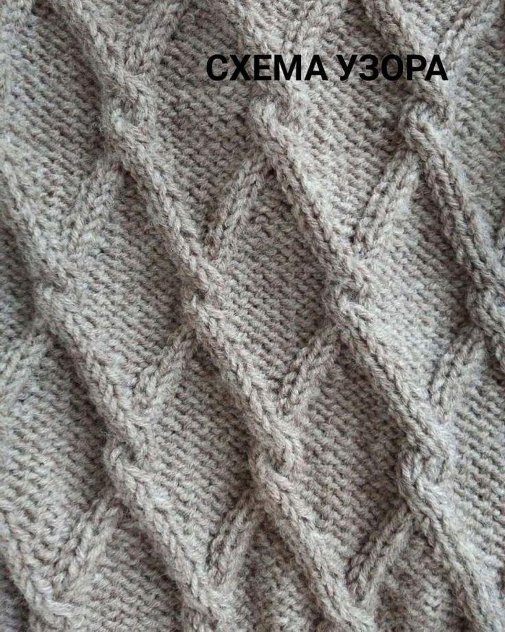 Free Knit Pattern for a Cable Diamond Twist Stitch ...