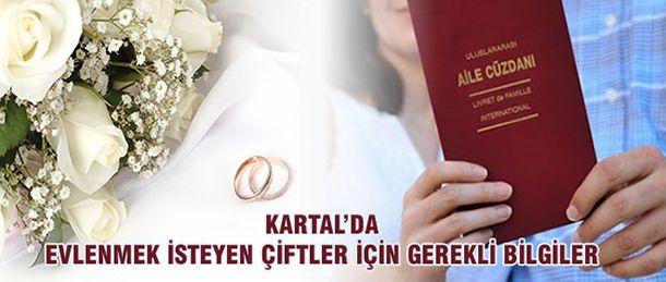 Yaz ayının gelmesiyle birlikte düğün sezonu da açıldı. Evlenmek isteyen çiftler nikah yapmak için hazırlıklarını sürdürürken Kartal Belediyesi olarak da genç çiftlere yol göstermek amacıyla gerekli işlemlerin yapılması için neler yapılmalı? 5393 Sayılı Yasa ve Belediye Başkanının verdiği yetki ile Kartal sınırları içerisinde yaşayan vatandaşların nikah akitleri, Kartal Belediyesi Yazı İşleri Müdürlüğü'ne bağlı Evlendirme Memurluğu'nca gerçekleştiriliyor. Evlenme akdinin yapılabilmesi ...