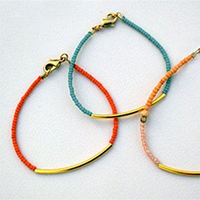 DIY Beaded Tube Bracelet