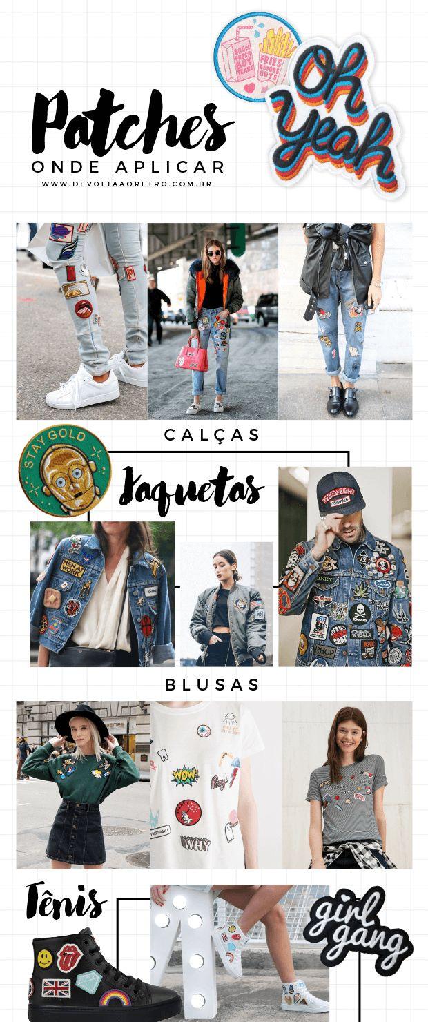 Trend dos anos 80 e 90 está de volta: customização de roupas com patches - De volta ao retrô