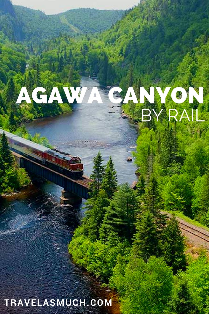 The Algoma Railway has a special tour train that allows you to ride the rails from Sault Ste Marie Ontario to the Agawa Canyon Wilderness Park and back.