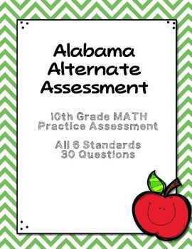 This packet includes 15 pages of the assessment and two pages of answer documentation pages for the teacher. There are a total of 30 questions. All six of the new 10th grade math standards are included on the assessment. I have written questions with different depths of knowledge (DOK).