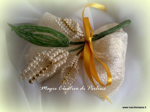 tutorial bomboniere perline calla
