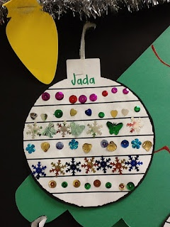 Use Sequins to Make Patterned Ornaments. Each line is a different pattern
