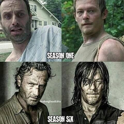 Rick and Daryl .. From season 1 to season 6 .. From enemies to Brothers