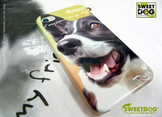 RACE (Border Collie) - personalized  iPhone 4 covers She's our mascot! ;)