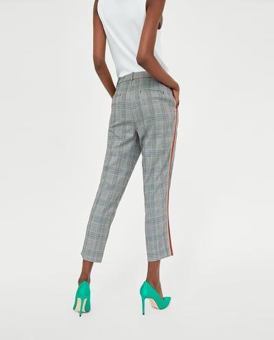 Cuadros Banda Todo Mujer Pantalones Lateral Pantalón Zara Ver 1dB5qpw