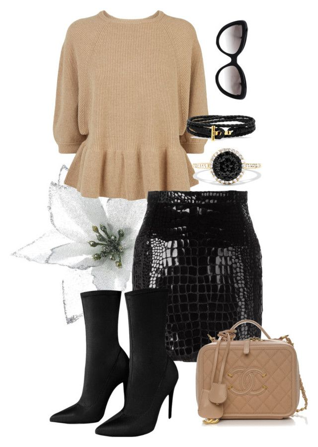 """""""feelings you provide"""" by bkrasniqi ❤ liked on Polyvore featuring RED Valentino, Yves Saint Laurent, Prada and Effy Jewelry"""